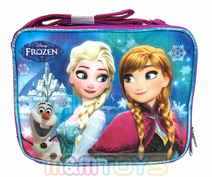 Disney Frozen Anna Elsa & Olaf Insulated Lunch Cooler Lunch Bag A05868