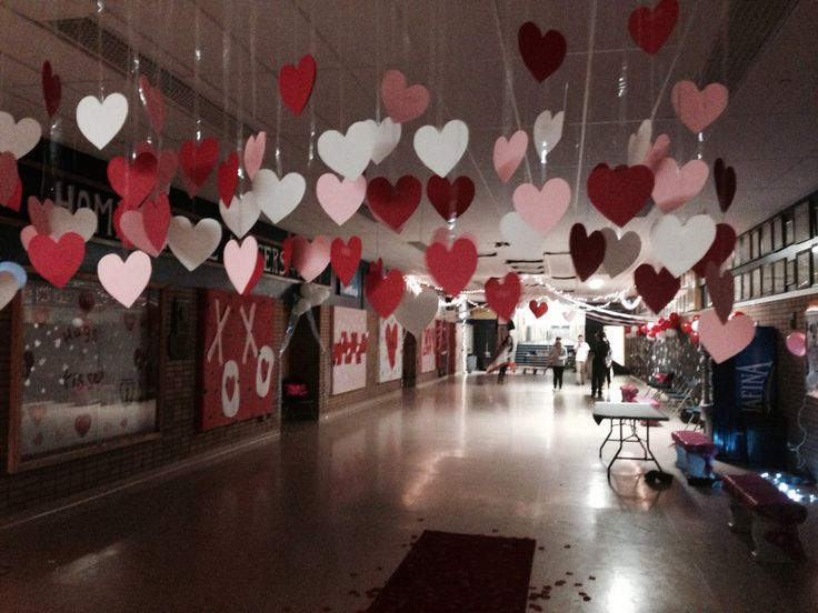 Valentines day dance entrance Decorating ideas for high