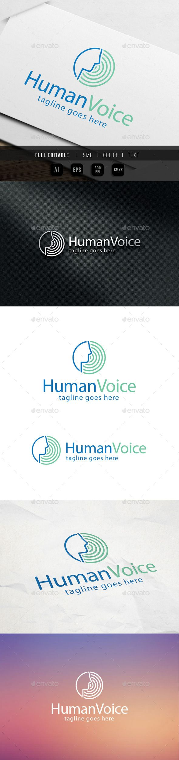 Human Voice Logo — Vector EPS #write #sing • Available here → https://graphicriver.net/item/human-voice-logo/9870097?ref=pxcr
