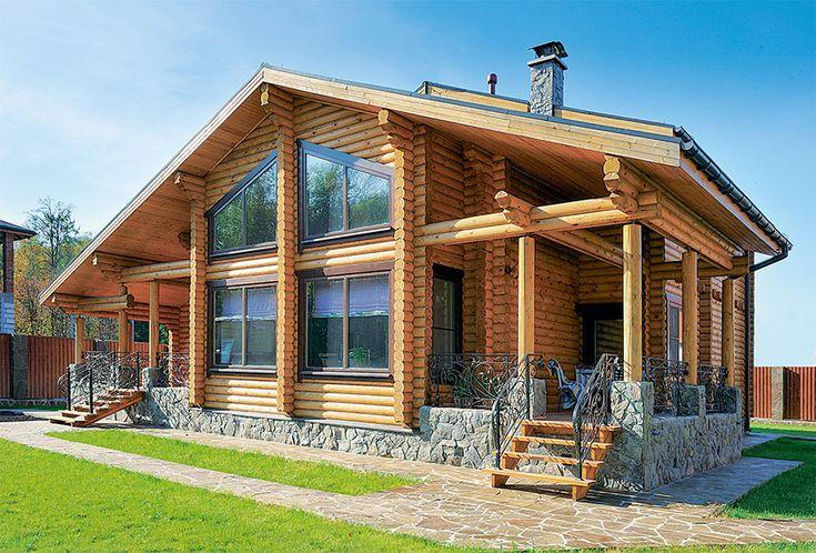 Загородный деревянный дом в стиле шале   Дома из оцилиндрованного бревна   Журнал «Деревянные дома»