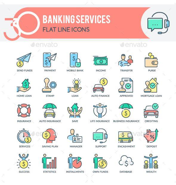 Banking Services Icons Banking Services Banking Finance Loans