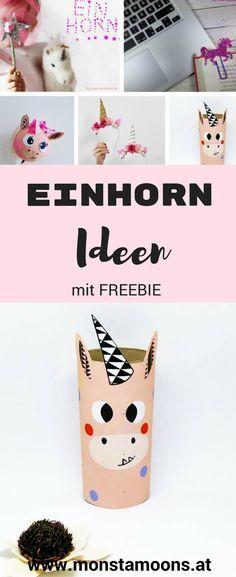 Einhorn Diys, Einhorn basteln, unicorn crafts, craft a unicorn, girls crafts, Basteln für Mädchen, Einhron Fans, unicorn party ideas,