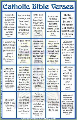 Catholic Bible Verses Bingo