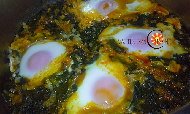 SPINACH WITH EGGS IN A POT Main dishSPINACH WITH EGGS IN A POT