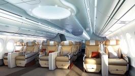 A350 Airbus First Flight Photos interior