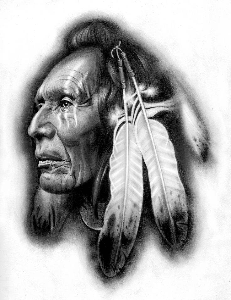 Tattoo design | Native American warrior by badfish1111.deviantart.com on @deviantART