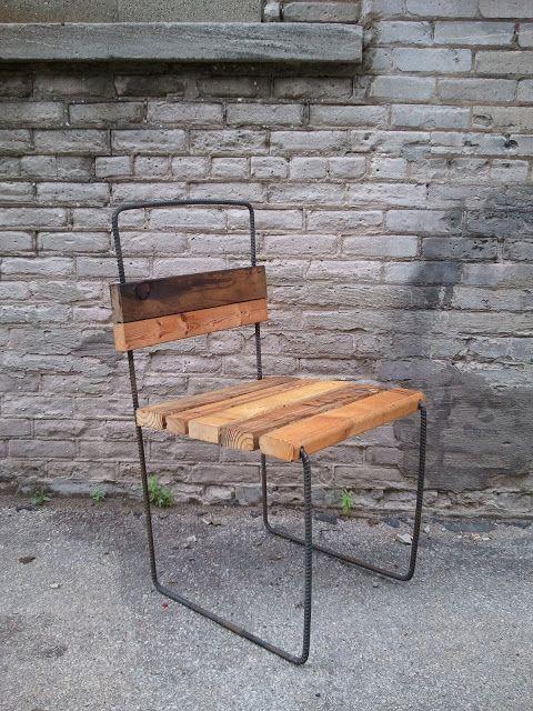 Patio Rebar Chair With Found 2x4 S Wilo Design Farm