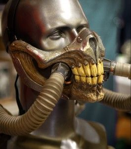 3D Printed Respirator Mask from Mad Max: Fury Road http://3dprint.com/72917/mad-max-respirator-mask/