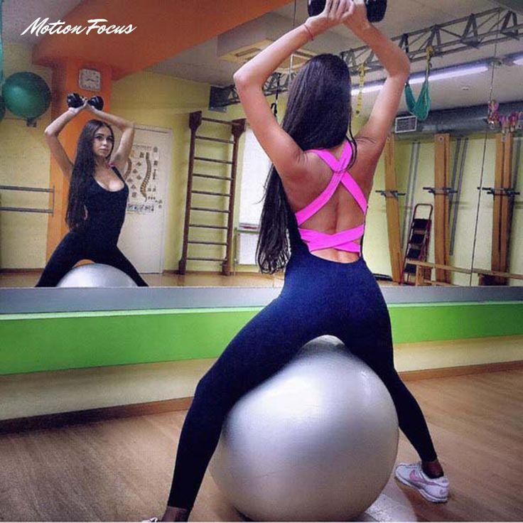 2016 de una sola pieza yoga traje de gimnasio ropa de deporte set for women running tight buzos deportes yoga conjuntos