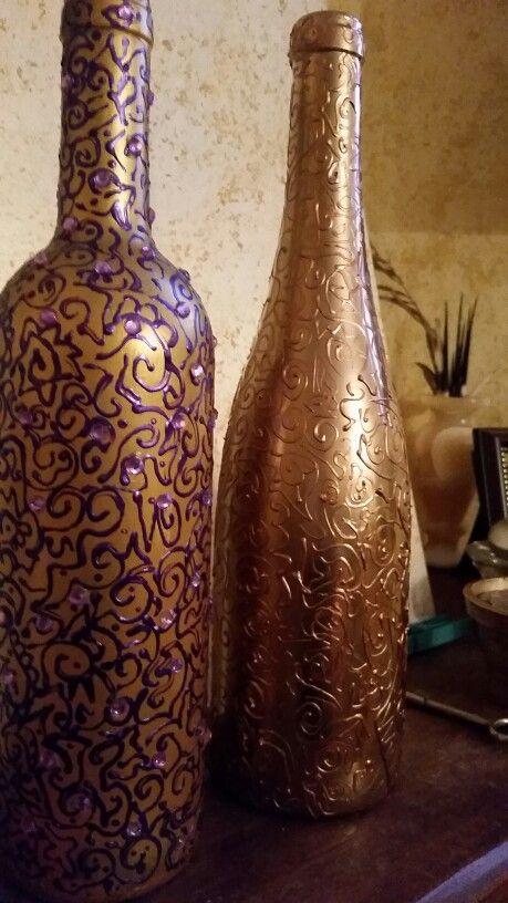 Bottiglie dipinte a mano