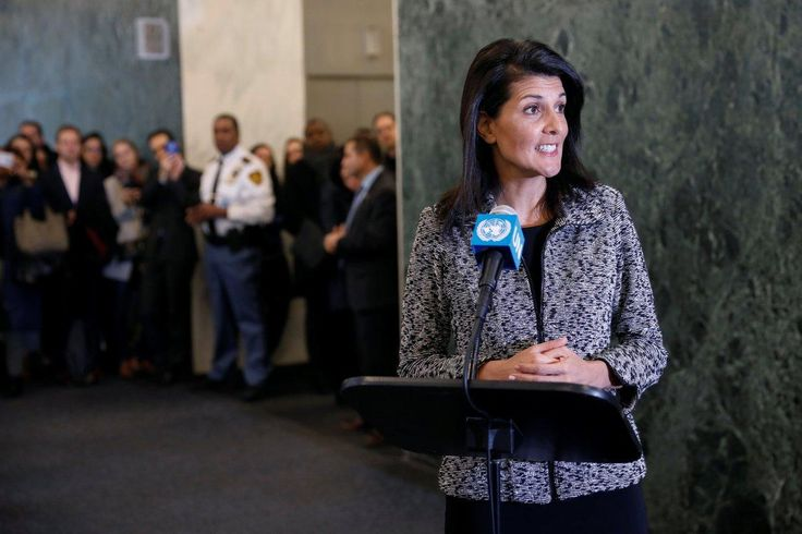 Nikki Haley says Trump administration is 'taking names' of countries opposing America in her first speech as U.N. ambassador