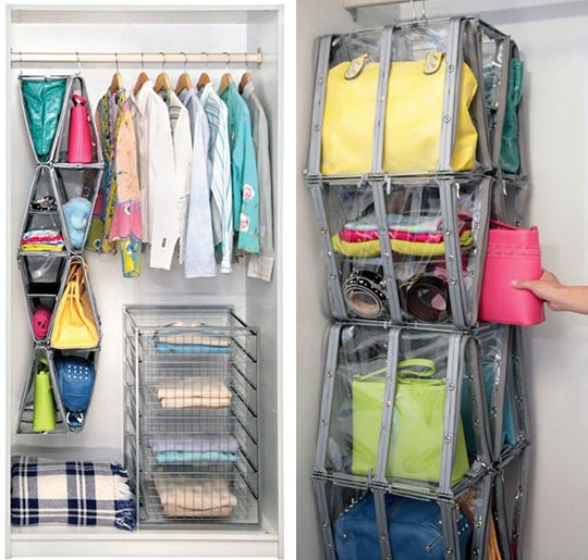 Amazing purse storage!  Not as visibly appealing as I'd like, but practical for renters.