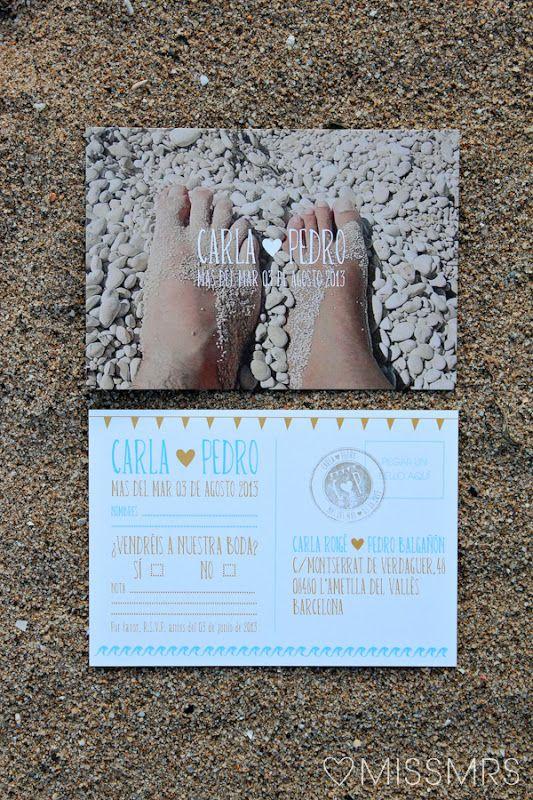 Invitaciones Para Una Boda De Playa Invitactionesdeboda