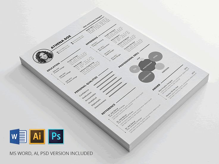 Oltre 25 Fantastiche Idee Su Resume Template Free Su Pinterest   Resume  Word Templates Free  Free Resume Word Templates