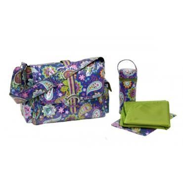 cobalt paisley diaper bag, paisley diaper bag, blue paisley diaper bag, diaper bag, kalencom diaper bag