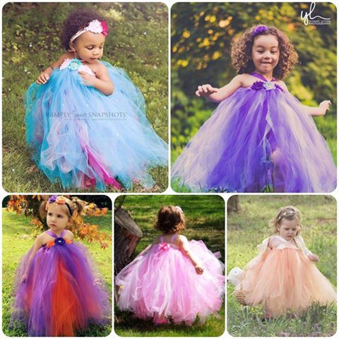 Flower girl tutu dress, shabby chic, aqua, turquoise, purple, lavender, orange, pink, peach.
