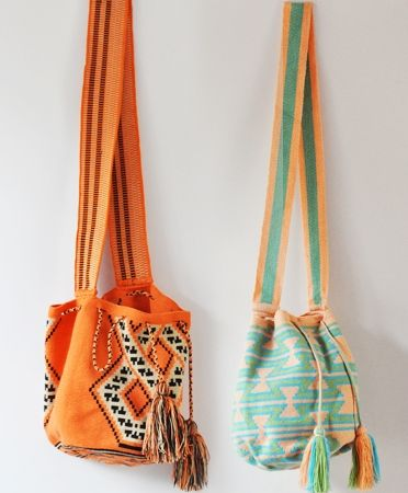 These tribal print bags would be the cutest road trip carryall! A