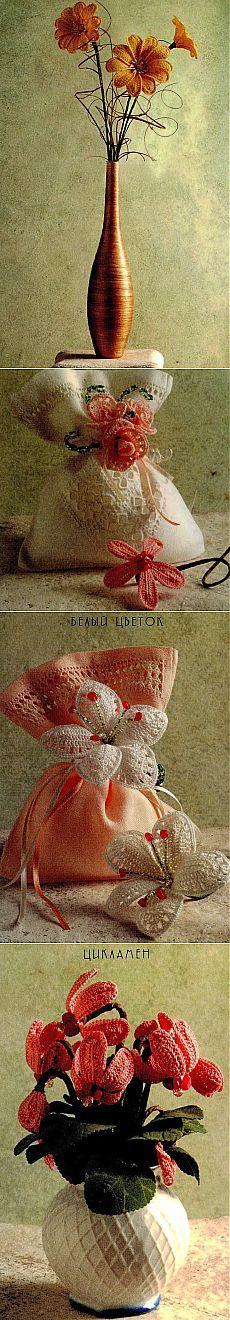 Цветы крючком, описание вязания / Вязание игрушек на спицах и крючком, схемы и описание / КлуКлу. Рукоделие - бисероплетение, квиллинг, вышивка крестом, вязание