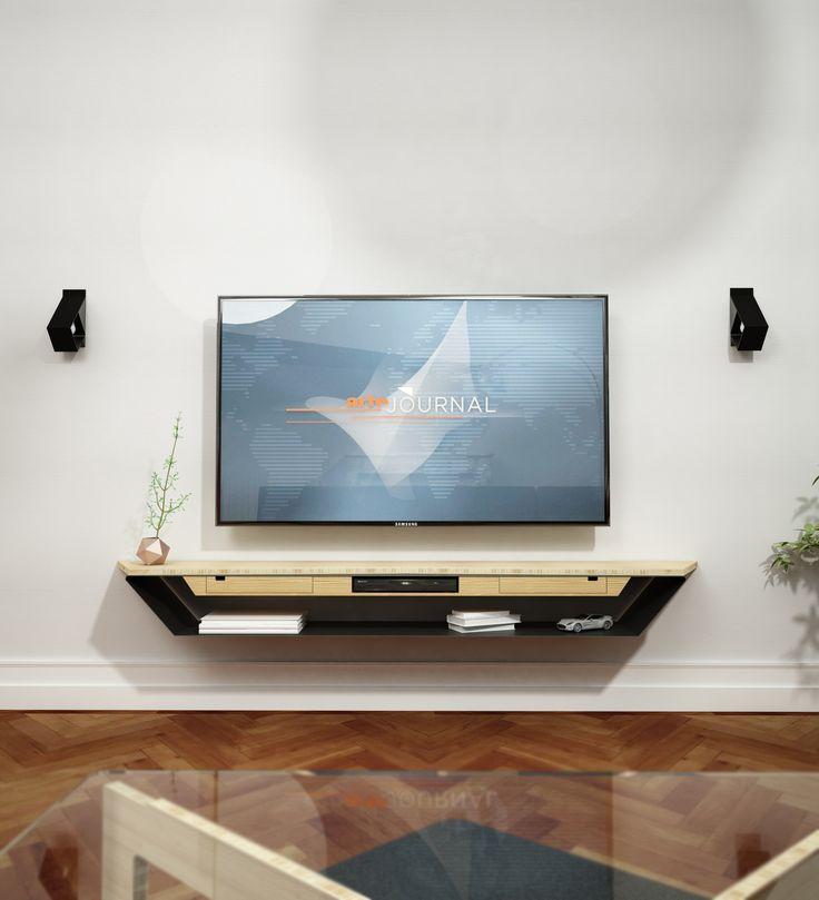 studio BARU Design - meuble tv suspendu // © Lilliac