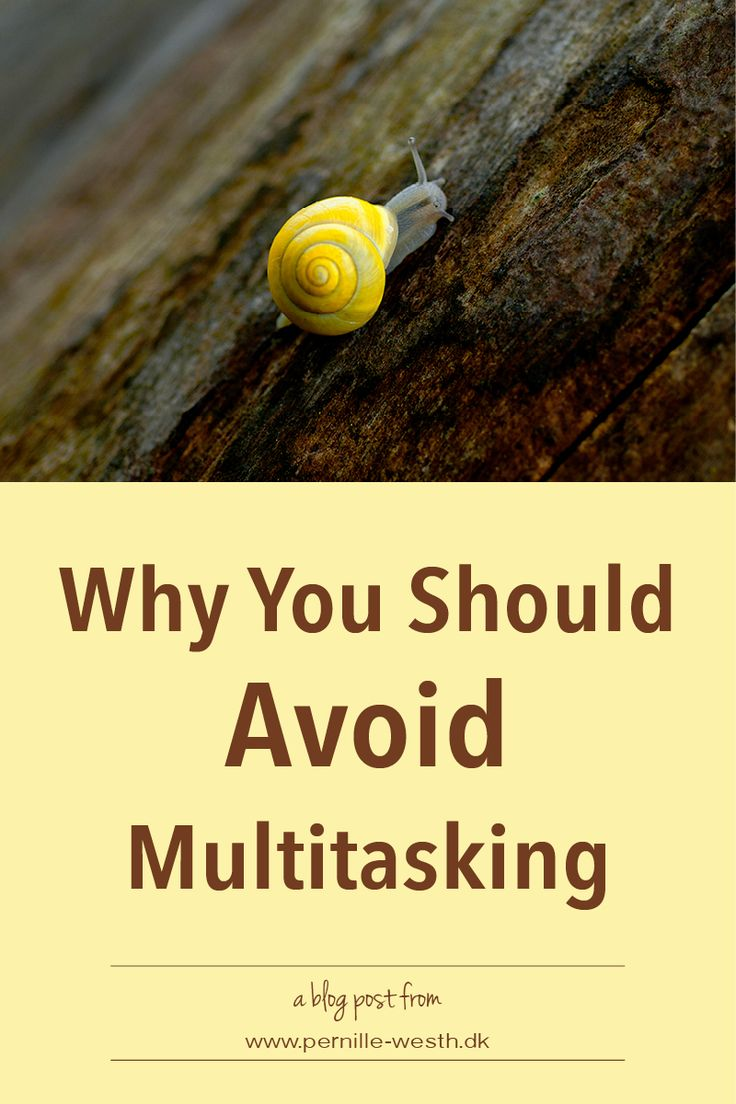 Multitasking is not effective, and it is not good for your brain. Read my blog post; http://www.pernille-westh-blog.com/single-post/2016/09/15/Do-Not-Multitask