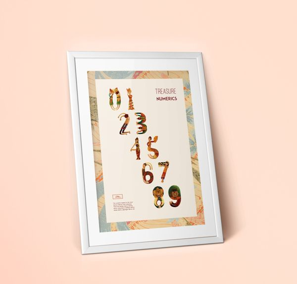 Treasure Numerics by novita fahmi, via Behance