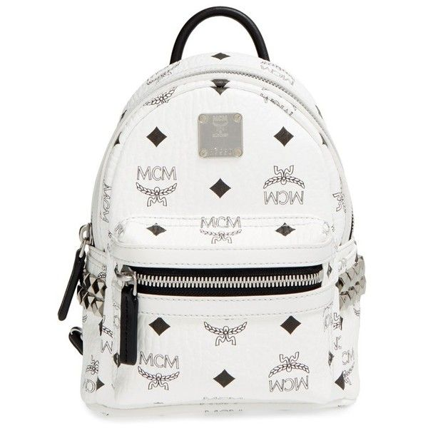 f8ffa6bb7e8f MCM  X Mini Stark Side Stud  Convertible Backpack ( 670) ❤ liked on  Polyvore featuring bags