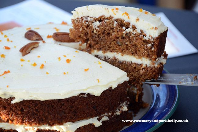 The Carrot Cake Company's orange flavour cake http://rosemaryandporkbelly.co.uk/features/in-search-of-cake/