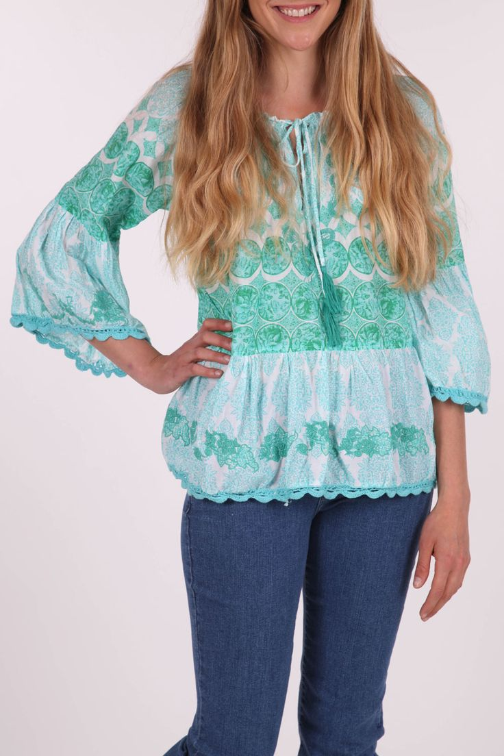 Love the top and the colours :) <3  Naudic Sabina Ombrey Top - Womens Blouses at Birdsnest Women's Fashion