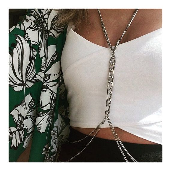 You must to have you body chain!! Silver Body CHain, body chain, Coachella style, dylanlex style, gifts for her, christmas gift, silver chain, valentines day