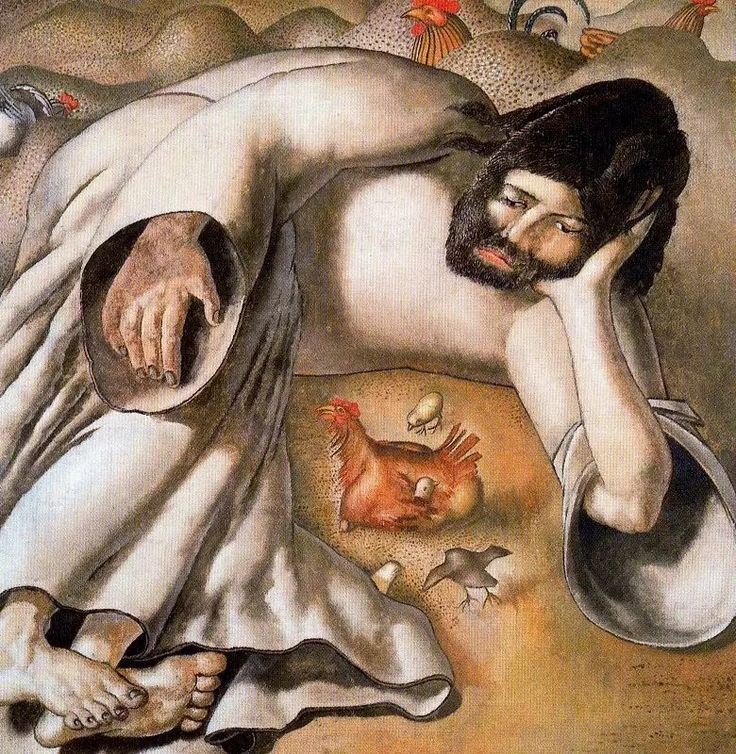 Christ in the Wilderness - The Hen - Stanley Spencer