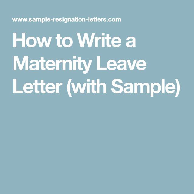 Ervin Jay (mlintes) on Pinterest - sample pregnancy resignation letters