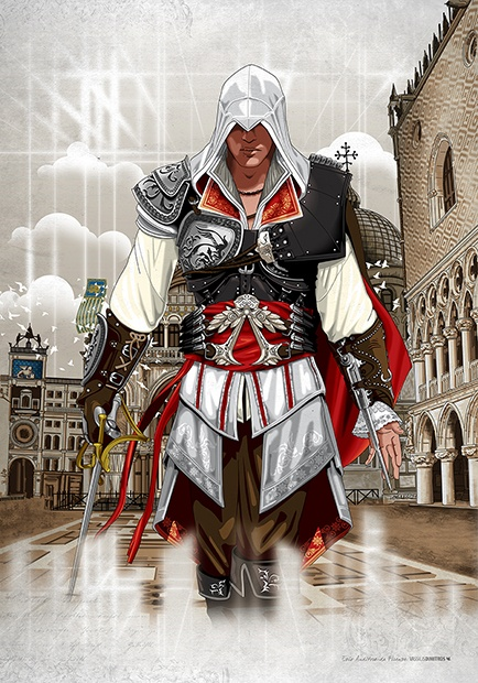 """""""Ezio Auditore Da Firenze (Venezia 1486)"""" Assassin's Creed © Ubisoft"""