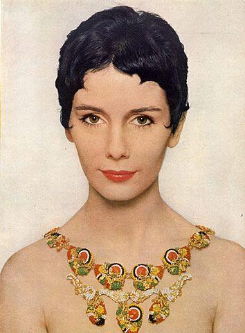 Miriam Haskell (Jewels) 1954 Maggie McNamara, Flowers Necklace, Richard Avedon