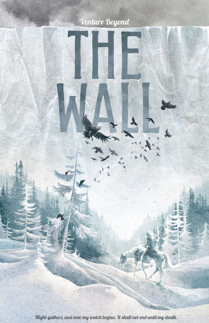 Game of Thrones Poster The Wall Travel Poster by TheGreenDragonInn, $16.00