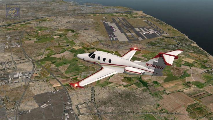 Vuelo completo con NDB en reactores jets Eclipse 550