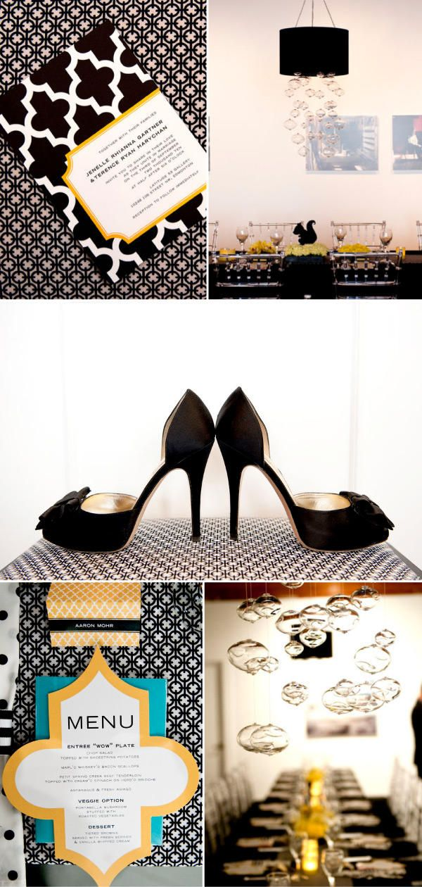 modern wedding invitation - i LOVE everything in this mood/inspiration board!