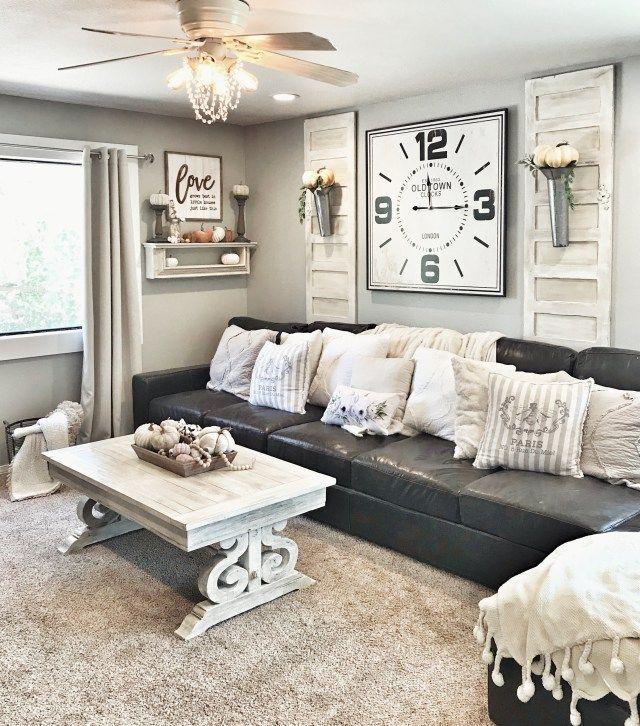 Fall Farmhouse Decor Sectional Living Room Layout Livingroom