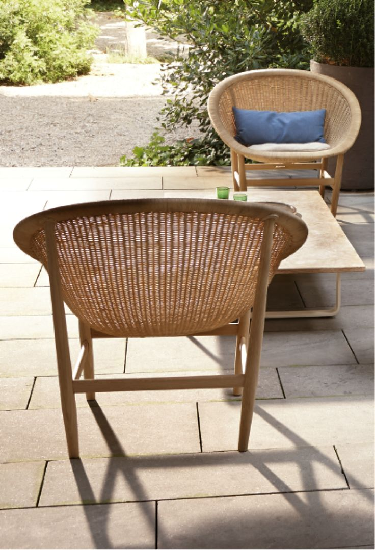 nanna chair en armchair design by ditzel kettal products wicker b basket collection