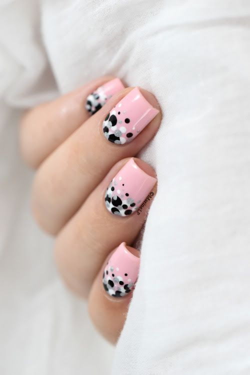 Pretty pink polka dot nails - Best 25+ Dot Nail Designs Ideas On Pinterest Dot Nail Art, Fun