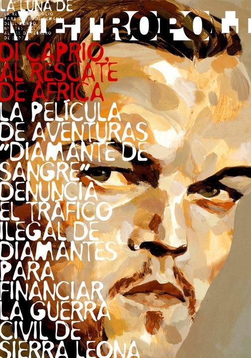 Caricatures Covers Metrópoli by Raul Arias, via Behance