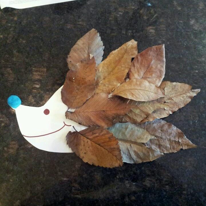 leafy hedgehog craft #pricklyhedgehq www.PricklyHedge.co.uk