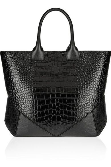 GIVENCHY Easy bag in black croc-embossed leather   Spring Summer 2014 ~ Cynthia Reccord