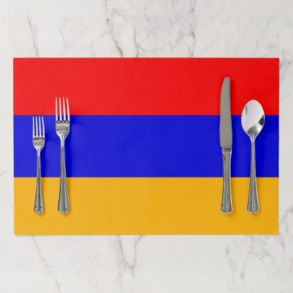 Tearaway placemat with Flag of Armenia - kitchen gifts diy ideas decor special unique individual customized