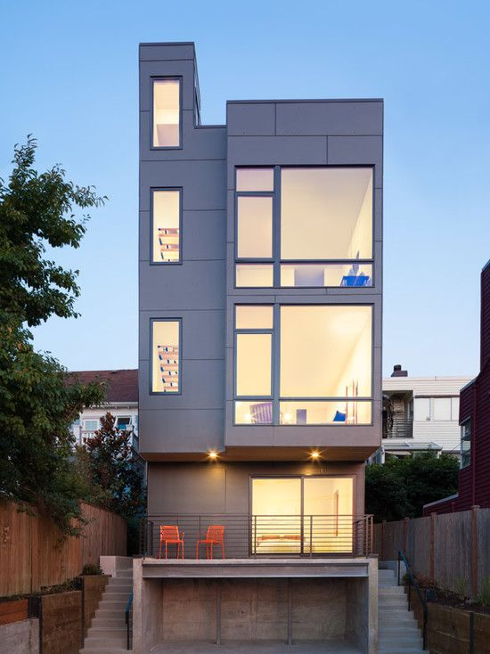 Ave City Homes Unit C   Contemporary   Exterior   Seattle   Malboeuf Bowie  Architecture