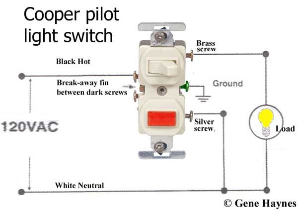 How To Wire Cooper 277 Pilot Light Switch In 2020