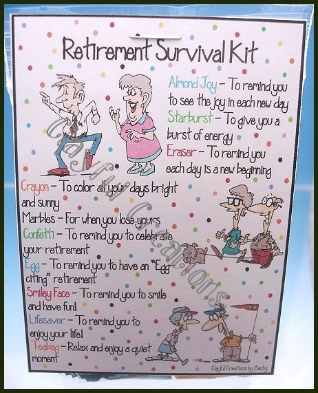 retirement survival kit - Google Search