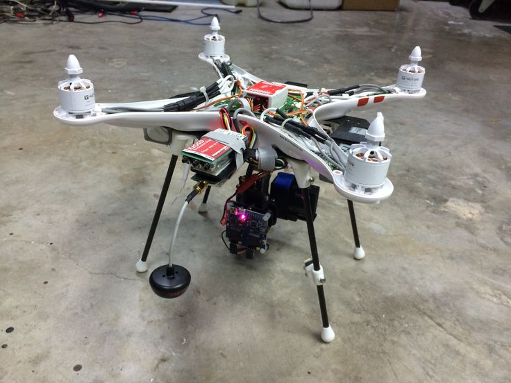 View 2 of the entire dji phantom after all mods completed