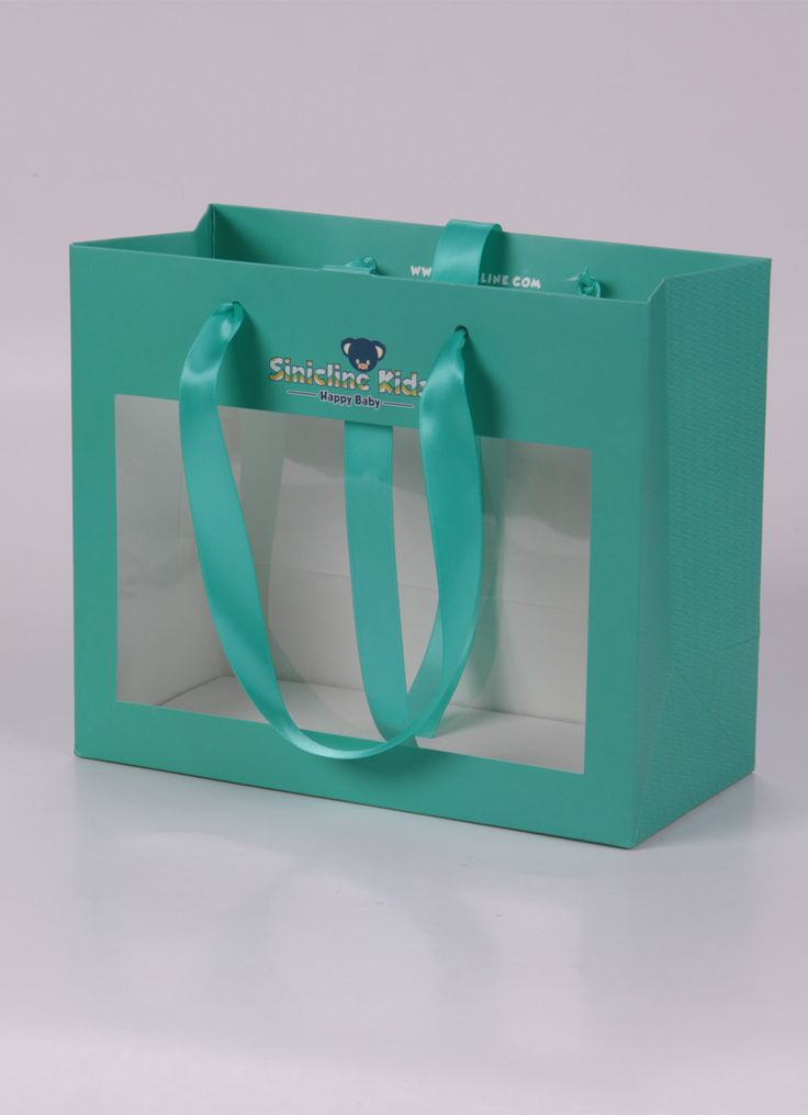 Custom paper bag with see-through window #paperbag #sinicline #packaging