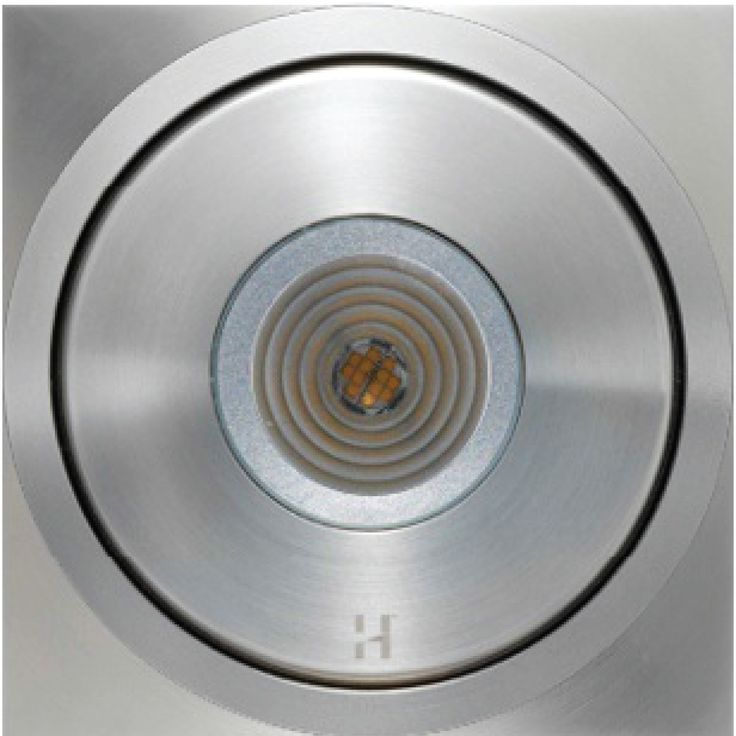 Hunza Floor Light Dark Lighters are compact up-lighters with minimal glare.