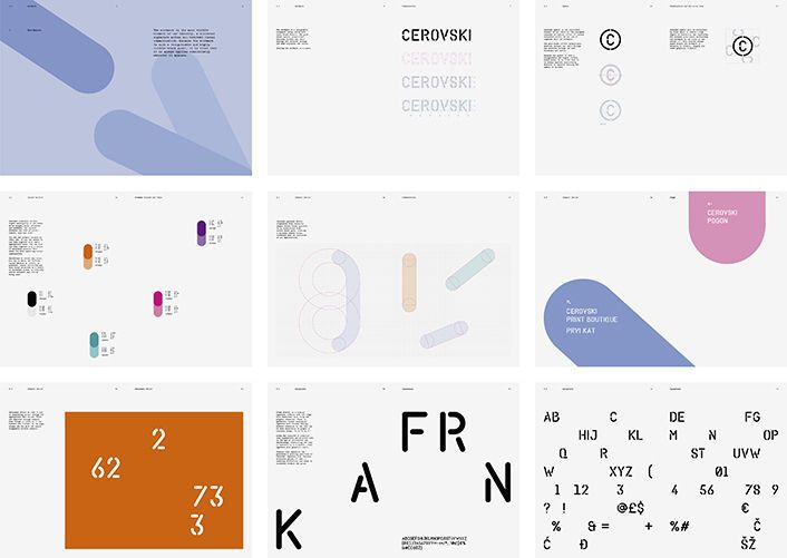 Graphic Design Bunch Create Great Identity For Croatian Print Studio Cervoski